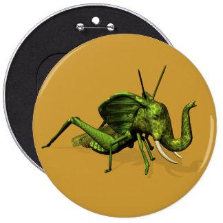 Elephant Grasshopper Crossbreed 6 Inch Round Button