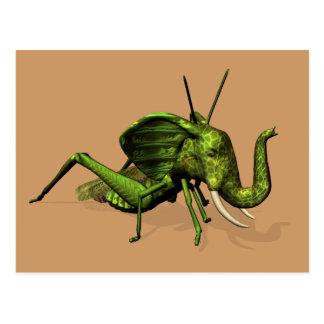 Elephant Grasshopper Crossbreed Postcard