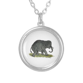 Elephant Gray Children's Cartoon Custom Necklace