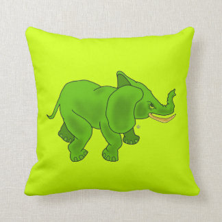 Elephant Green on Pillow