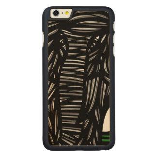Elephant Grey Black Carved Maple iPhone 6 Plus Slim Case