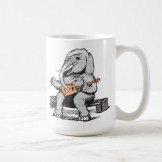Elephant Guitar Player Coffee Mug