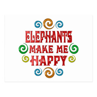 Elephant Happiness Post Card