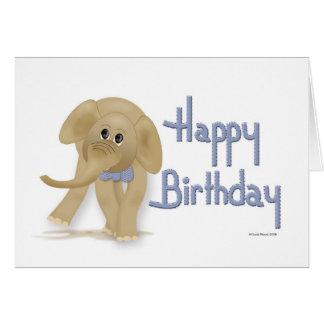 Elephant Happy Birthday Card