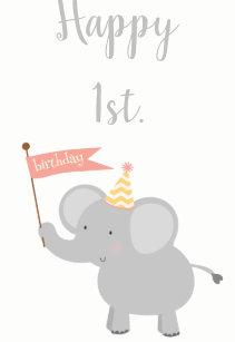 Elephant Happy Birthday Gift Tags