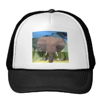 Elephant Head African Theme Low Poly Cap