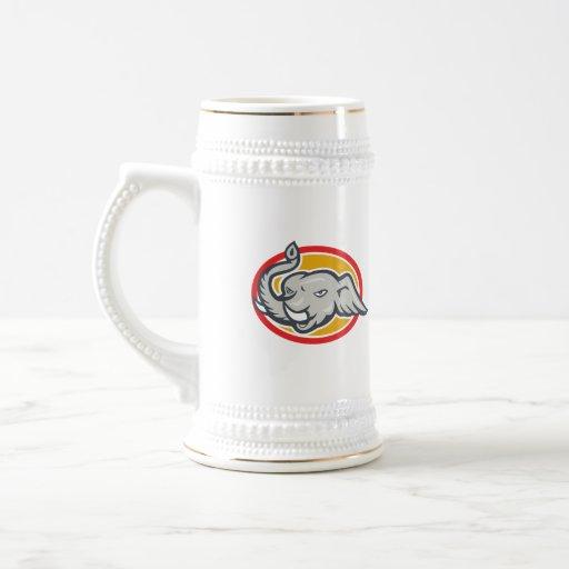 Elephant Head Cartoon Coffee Mugs
