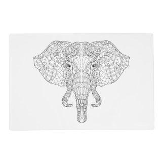 Elephant Head Doodle 2 Placemat