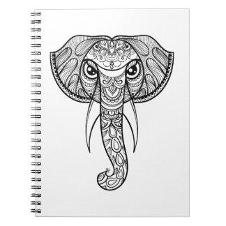 Elephant Head Doodle Notebook