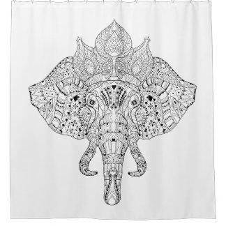 Mandala Elephant Shower Curtains