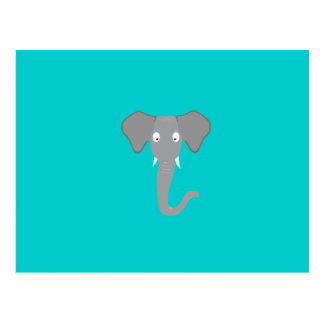 Elephant head postcard