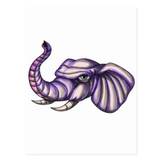 Elephant Head Trunk Tattoo Postcard