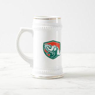 Elephant Head Tusk Shield Retro Coffee Mug