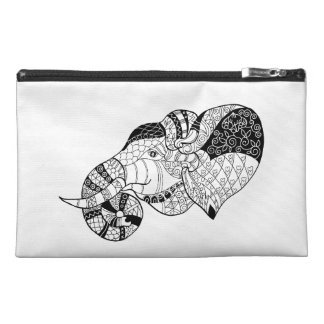 Elephant Head Zenstyle Doodle Travel Accessory Bag