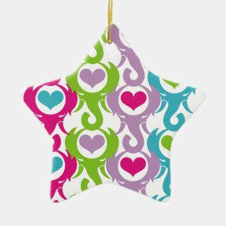 elephant heart ceramic ornament