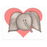 Elephant heart postcard