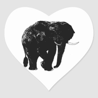 Elephant Heart Sticker