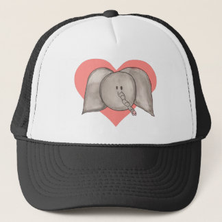 Elephant heart trucker hat