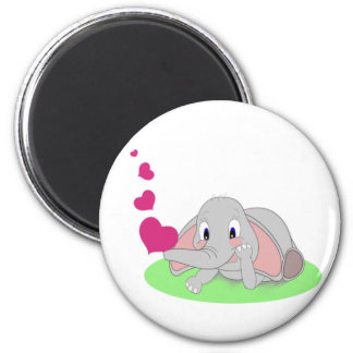 Elephant Hearts 2 Inch Round Magnet