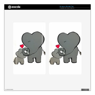 Elephant Hearts - An Unforgetable Love Decals For Kindle Fire