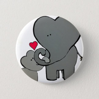 Elephant Hearts - An Unforgetable Love Pinback Button