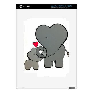 Elephant Hearts - An Unforgetable Love Skins For iPad 3