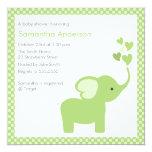 "Elephant Hearts Baby Shower Invitation - Boy /Girl 5.25"" Square Invitation Card"