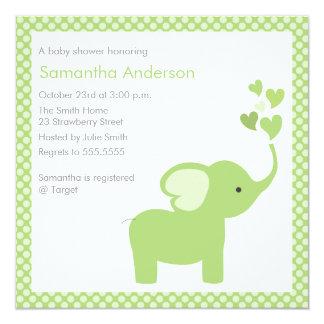 Elephant Hearts Baby Shower Invitation - Boy /Girl