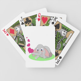 Elephant Hearts Bicycle Playing Cards