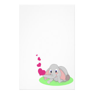 Elephant Hearts Stationery