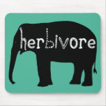Elephant - Herbivore - Blue Mouse Pad