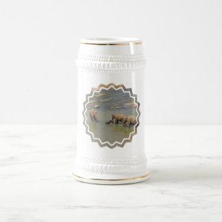 Elephant Herd  Beer Stein