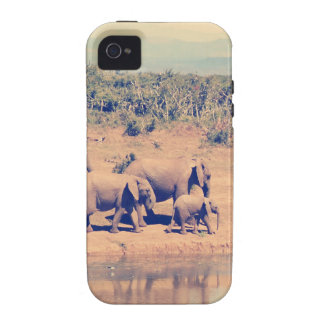 Elephant herd Case-Mate iPhone 4 case