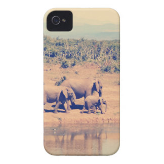Elephant herd iPhone 4 Case-Mate case