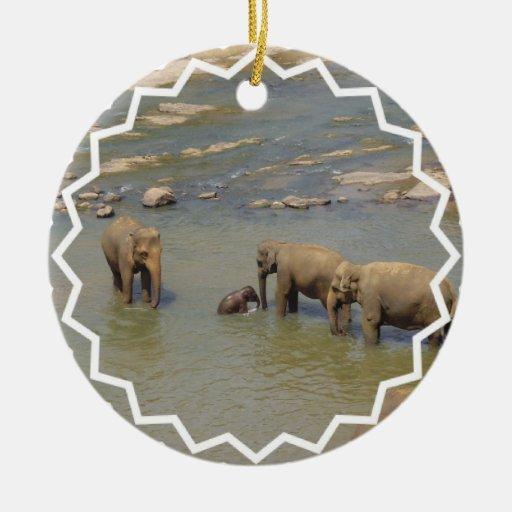 Elephant Herd  Ornament