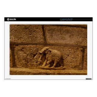 Elephant Historical Stone Statue / India Decal For Laptop