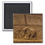 Elephant Historical Stone Statue / India Magnet