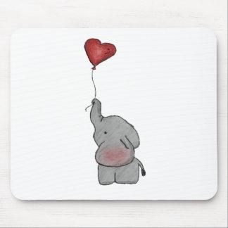 Elephant Holding Balloon Mouse Pad
