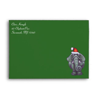 Elephant Holiday Card Envelope