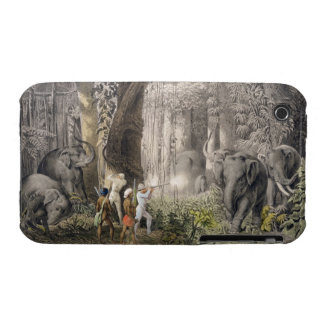 Elephant hunt in the region of Logalla, from 'Trav iPhone 3 Case-Mate Case
