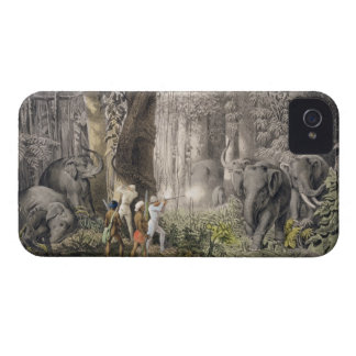 Elephant hunt in the region of Logalla, from 'Trav iPhone 4 Case