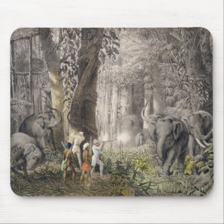 Elephant hunt in the region of Logalla, from 'Trav Mouse Pad