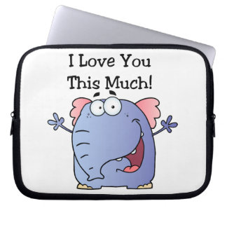 Elephant I Love You This Much Computer Sleeves