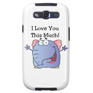 Elephant I Love You This Much Galaxy S3 Cases