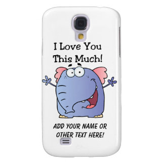 Elephant I Love You This Much Galaxy S4 Case