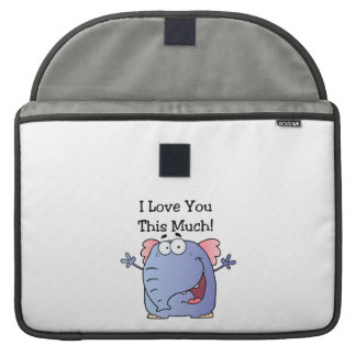 Elephant I Love You This Much MacBook Pro Sleeve