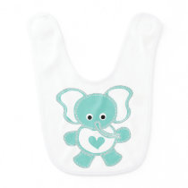 Elephant illustration bib