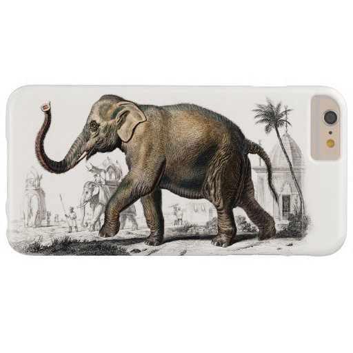 Elephant Illustration Vintage Art Print Barely There iPhone 6 Plus Case