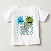 Elephant I'm 1 First Birthday Tshirts and Gifts