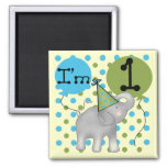 Elephant I'm 1 First Birthday Tshirts and Gifts Refrigerator Magnet